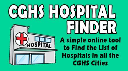 CGHS Hospital List Finder