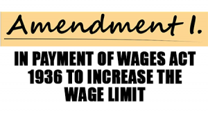 Amendment in Payment of wages act 1936 to increase the wage limit