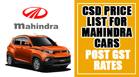 CSD-Price-List-for-Mahindra-Cars---Post-GST-Rates