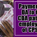 Payment of DA