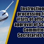 Instructions for processing foreign visits of officers for approval of Screening Committee of Secretaries (SCoS)