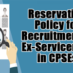Reservation Policy for Recruitment of Ex-Servicemen in CPSEs