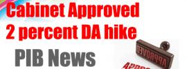 Cabinet Approved 2 percent DA hike
